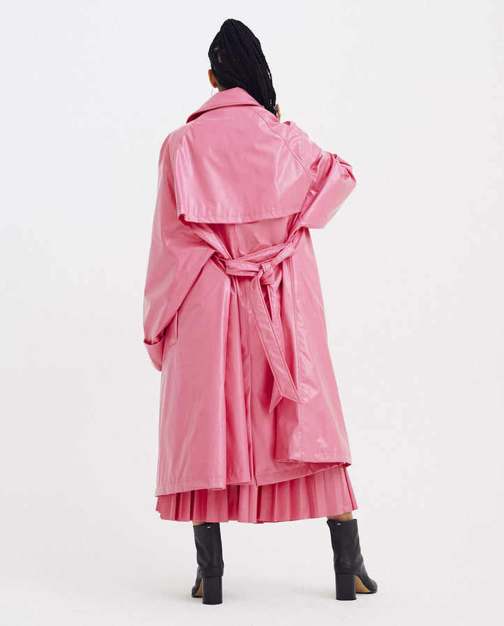 Trench Coat - Pink WOMENS MM6 MAISON MARGIELA