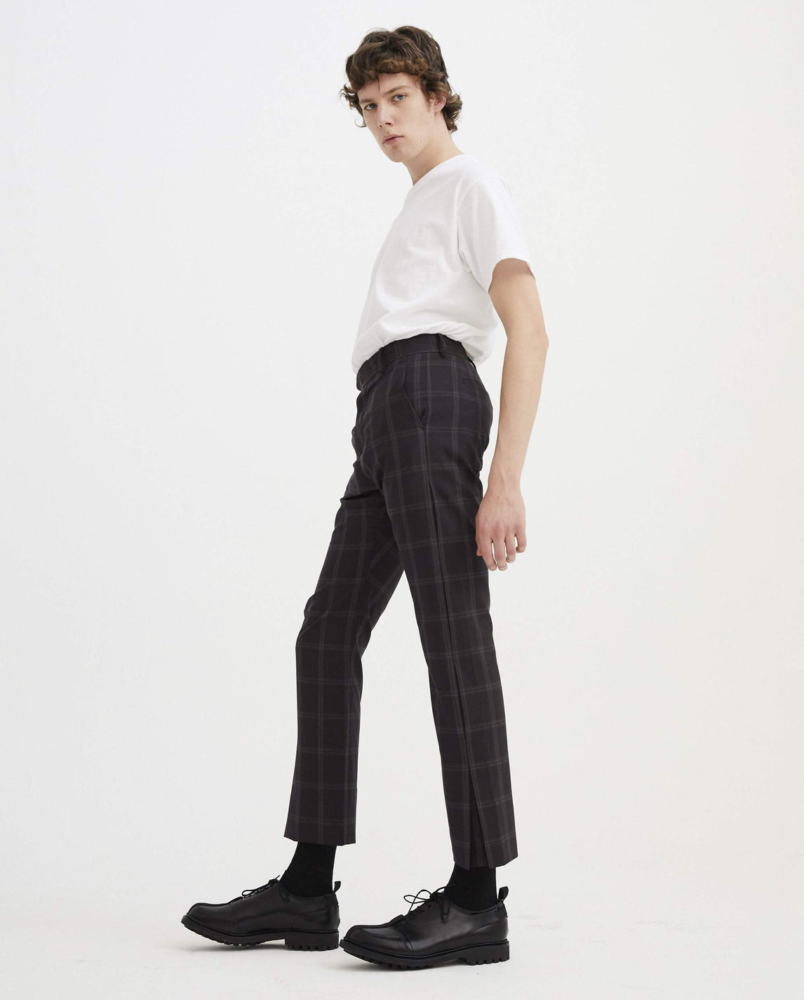 Trousers - Brown Check MENS CORNERSTONE