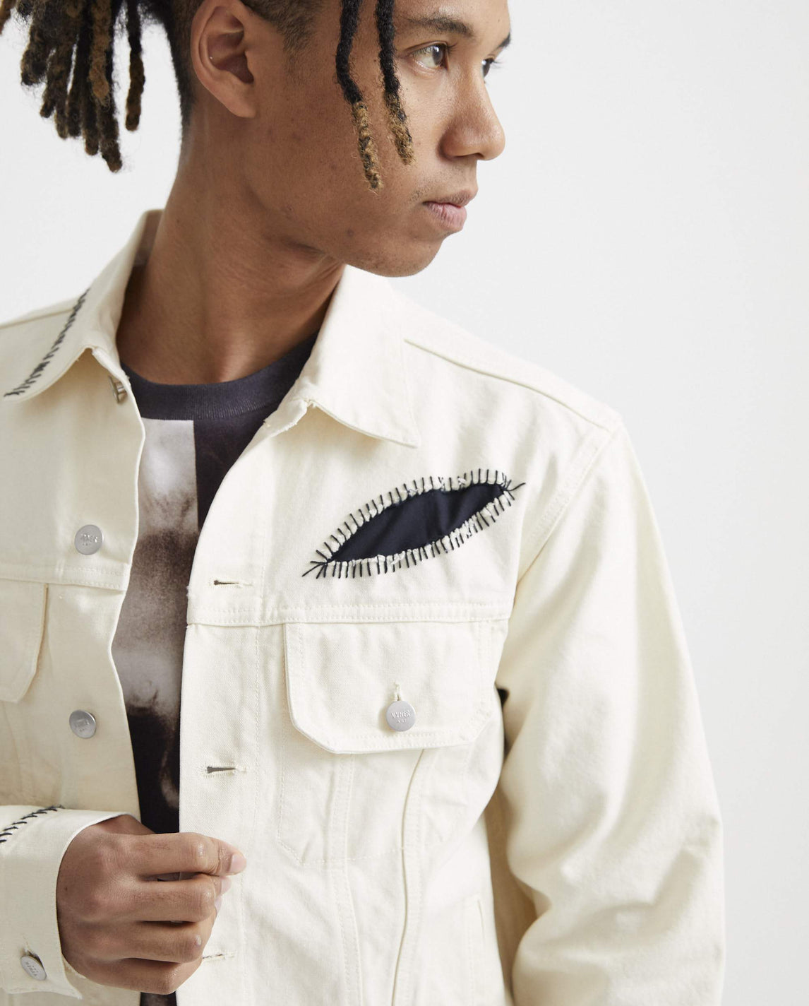 Trucker Jacket with Treatment - Calico MENS VYNER ARTICLES