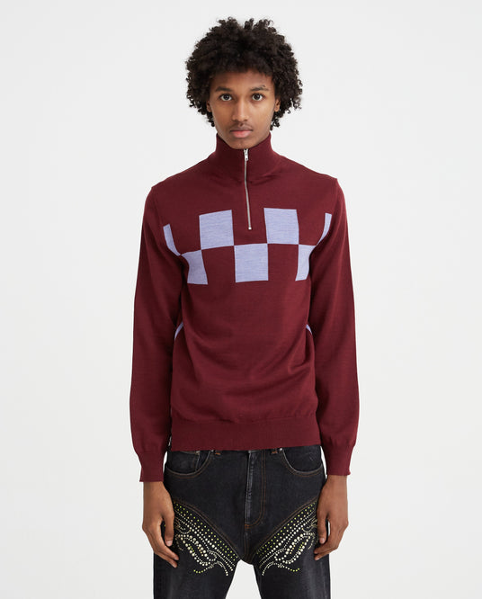 Turtleneck - Burgundy MENS MARNI