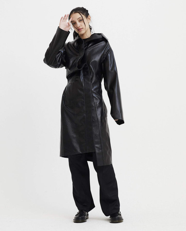 Twisted Overcoat - Black WOMENS Y/PROJECT