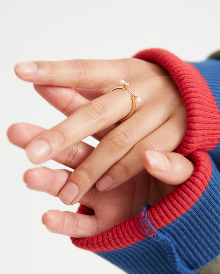 Two In One Ring - White Gold / Yellow Gold WOMENS DELFINA DELETTREZ