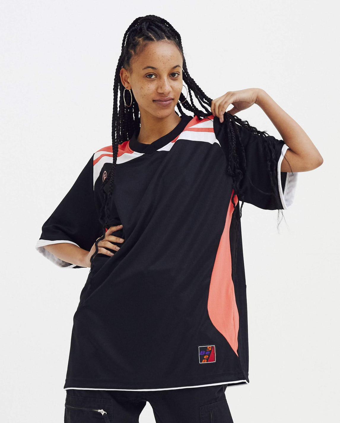 Two-Way Football Top - Black WOMENS MARTINE ROSE