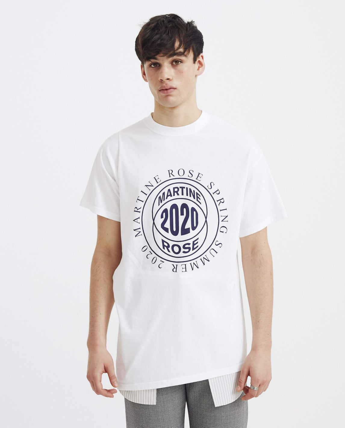 Two Way T-Shirt - White UNISEX MARTINE ROSE