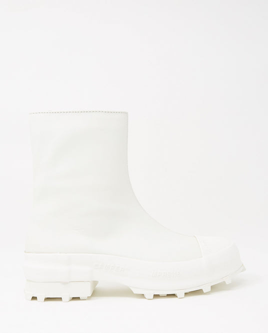 Ultra-Soft Houston Zip-Up Boot - White MENS CAMPERLAB