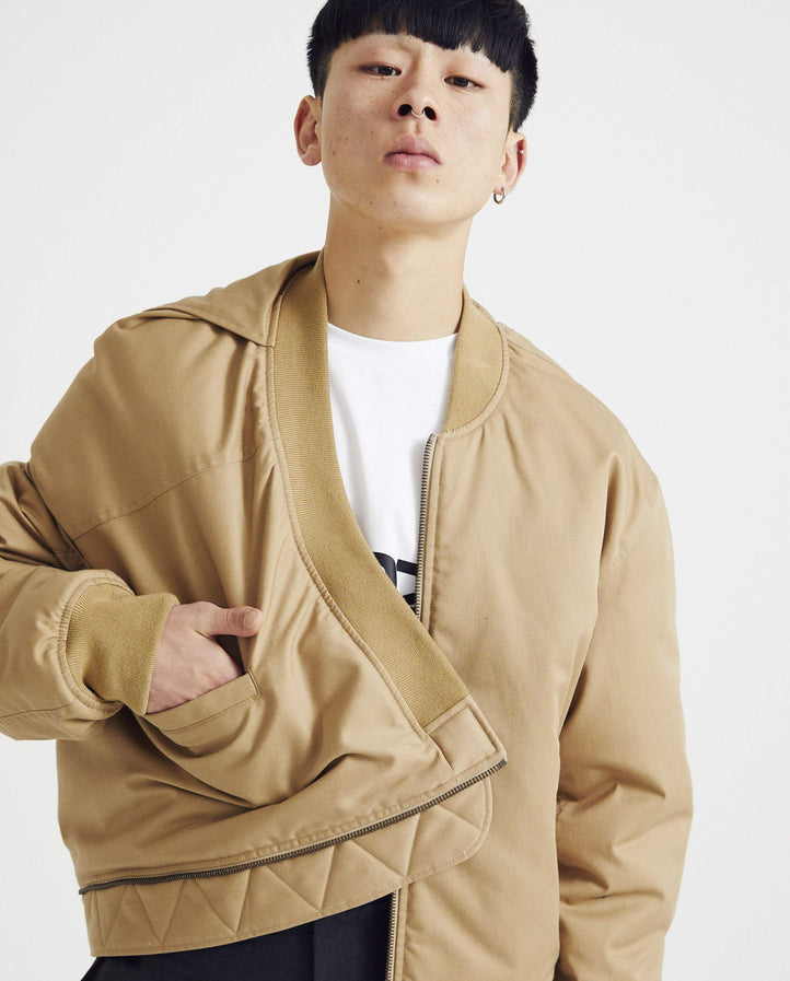 Upside Down Bomber - Beige UNISEX Y / PROJECT