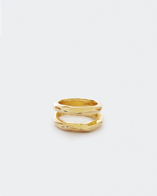 V Tushroom Ring - Yellow Gold UNISEX PATCHARAVIPA