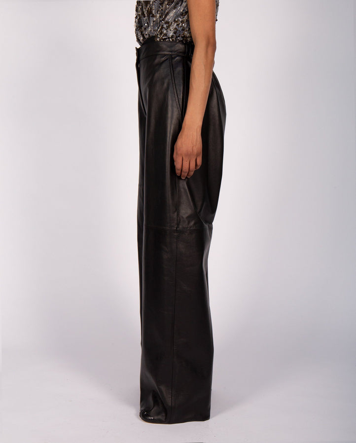 Wide Pants - Black WOMENS MM6 MAISON MARGIELA