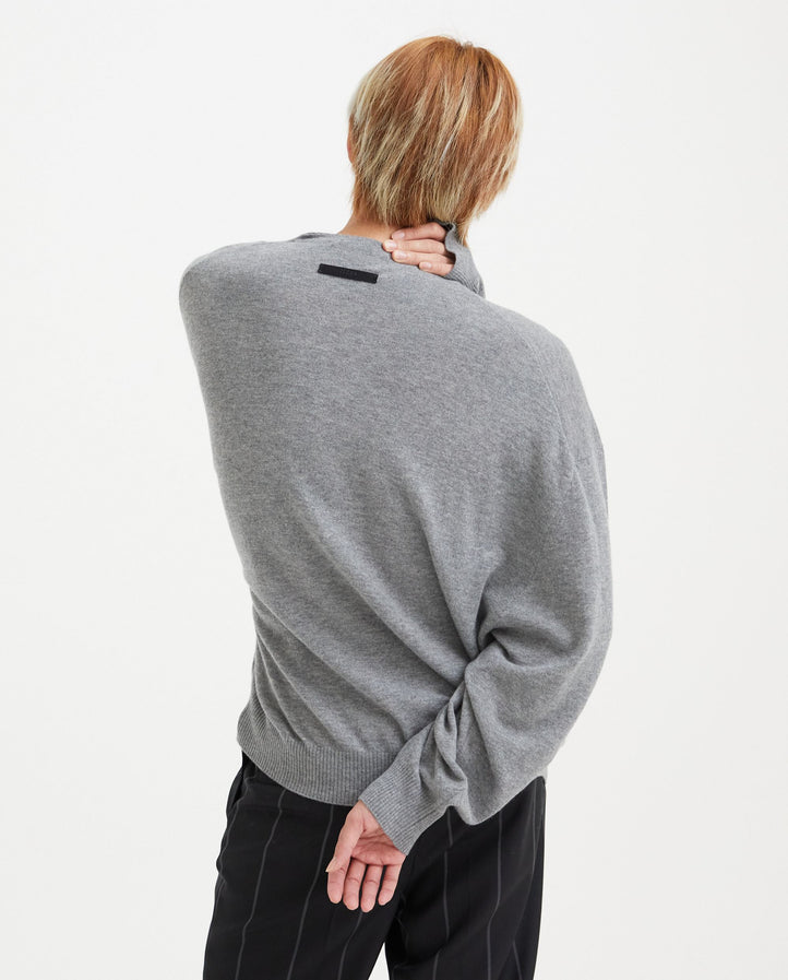 Wool Knit Sweater - Grey MENS FEAR OF GOD X ZEGNA
