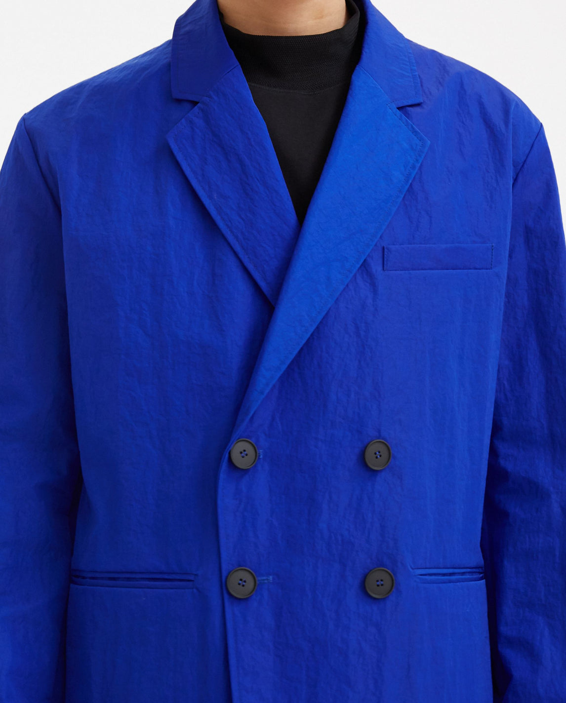 Woven Bonded Double Breasted Blazer - Blue MENS A-COLD-WALL
