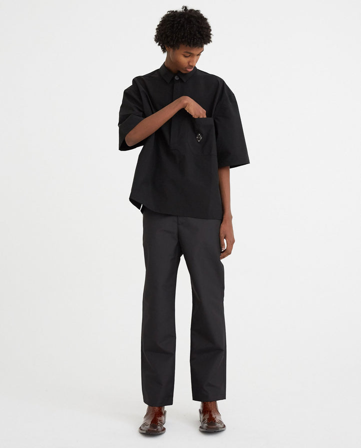 Woven Crinkle Trouser - Black MENS A-COLD-WALL*