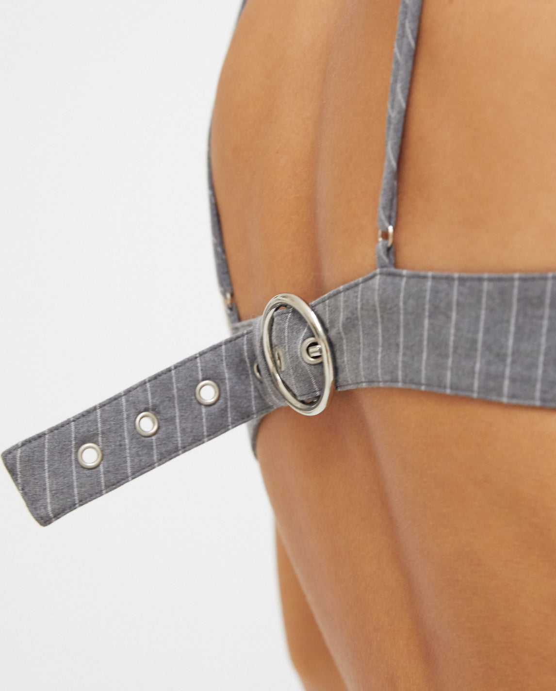 Woven Harness Bra - Grey WOMENS PRIVATE POLICY