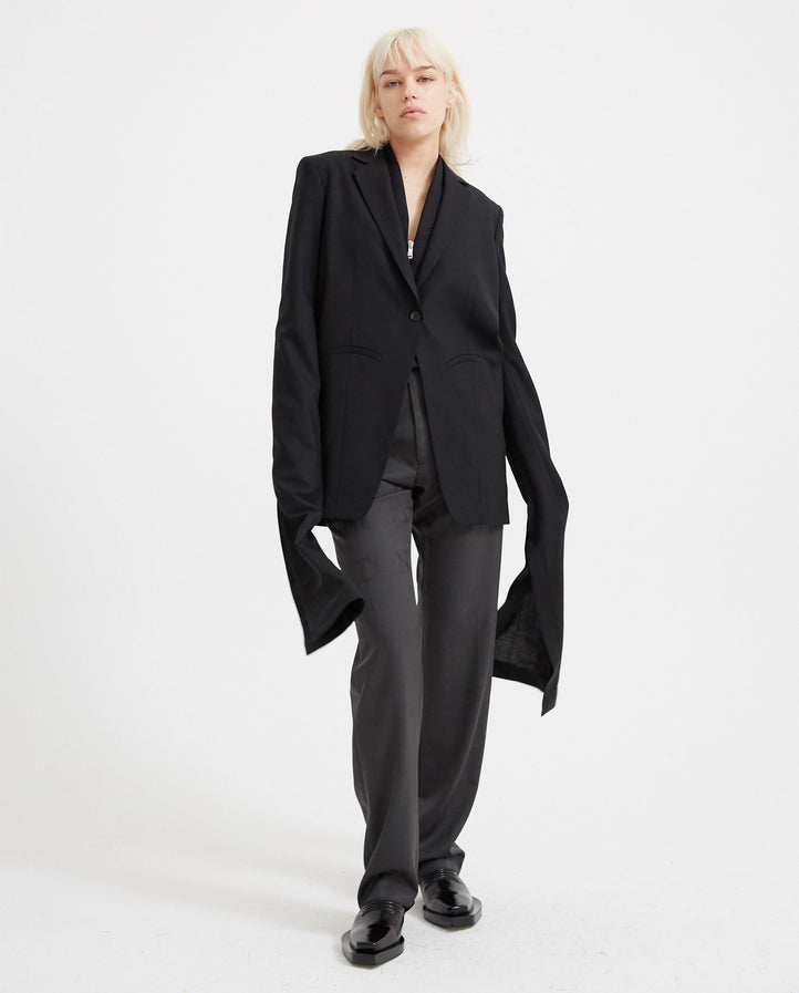 Woven Knot Cuff Tailored Jacket - Black WOMENS COPERNI