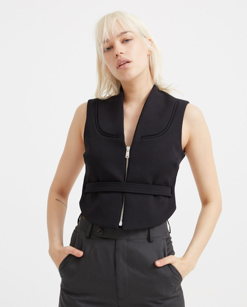 Woven Open Back Vest - Black WOMENS COPERNI