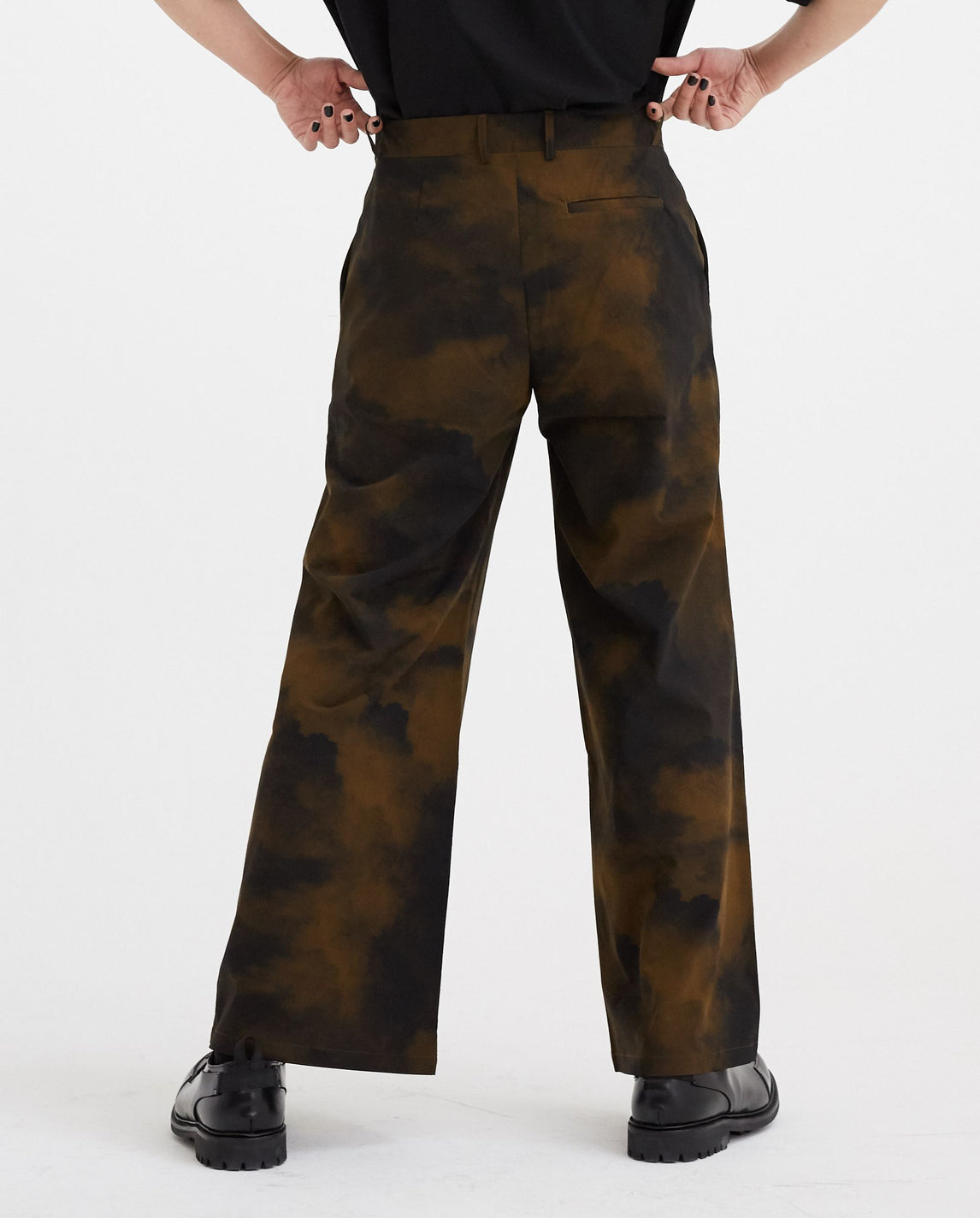 Woven Terrain Print Pants - Umber MENS A-COLD-WALL*