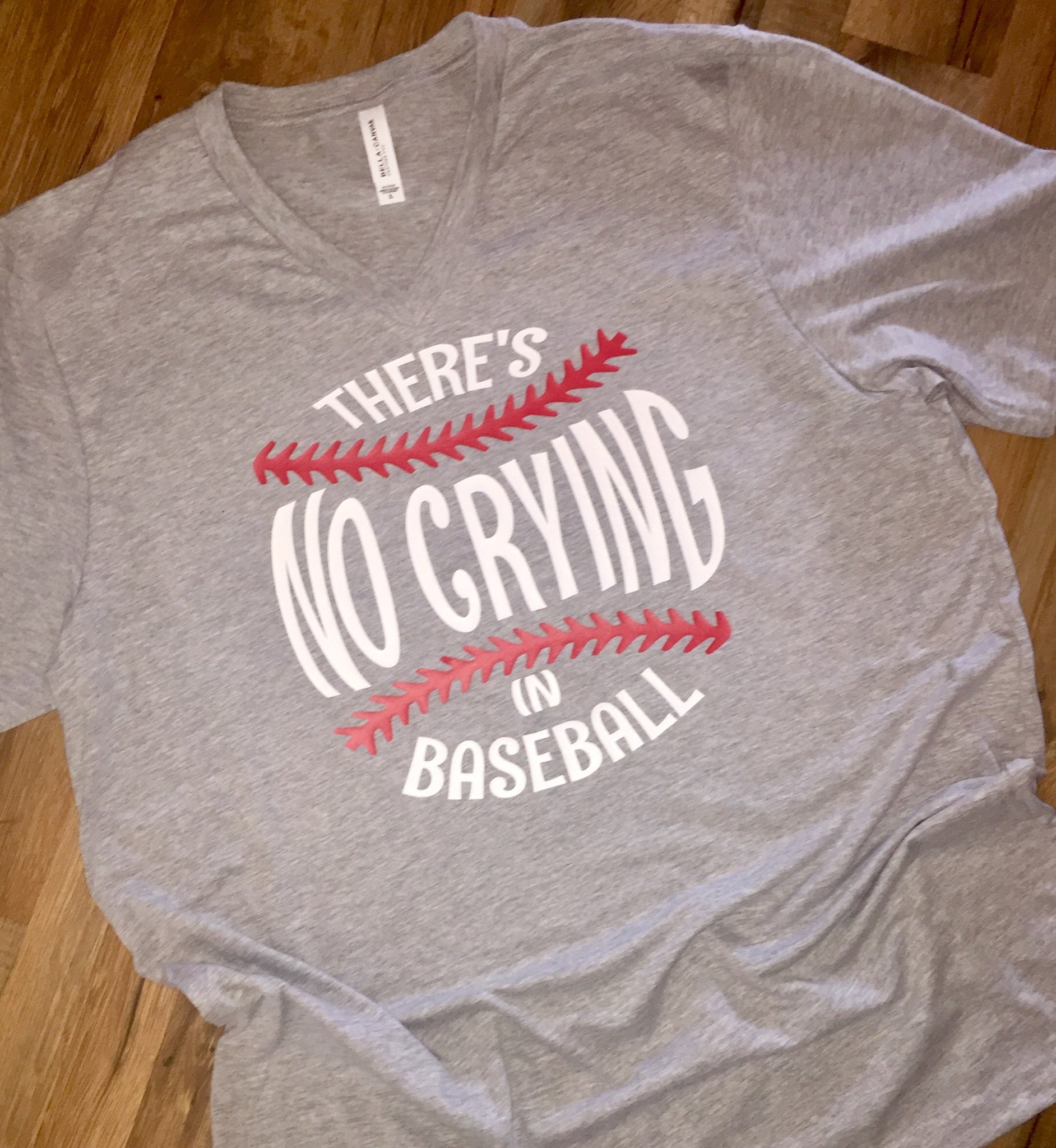 6eb77c8e2 ... Load image into Gallery viewer, There's no crying in baseball or  softball printed shirt or