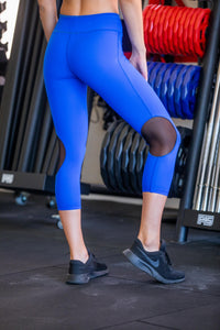3/4  Leggings - Royal Blue