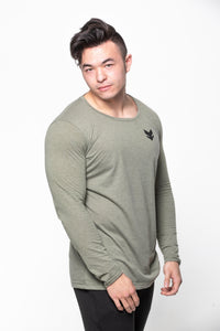 Scoop Neck Long Sleeve - Olive