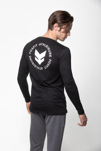 Scoop Neck Long Sleeve - Black