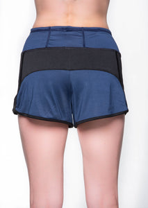 Two tone shorts - Blue and Black