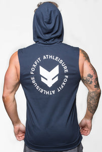 Ultra Light Weight Summer Sleeveless Hoodie - Navy