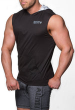 Load image into Gallery viewer, Ultra Light Weight Summer Sleeveless Hoodie - Black