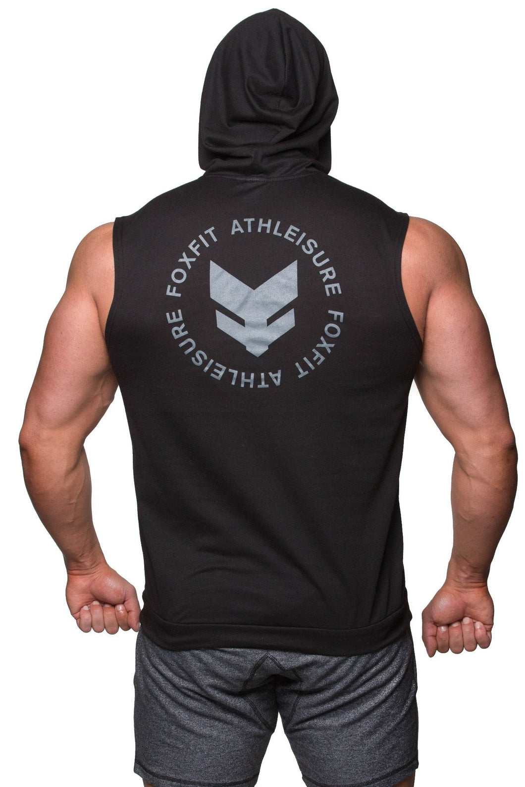 Ultra Light Weight Summer Sleeveless Hoodie - Black