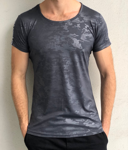 Performance Tee - Grey Camo