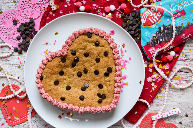 Heart Chocolate Chip Cookie Cake