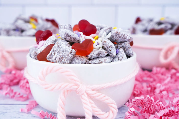 Valentine's Day Puppy Chow Snack