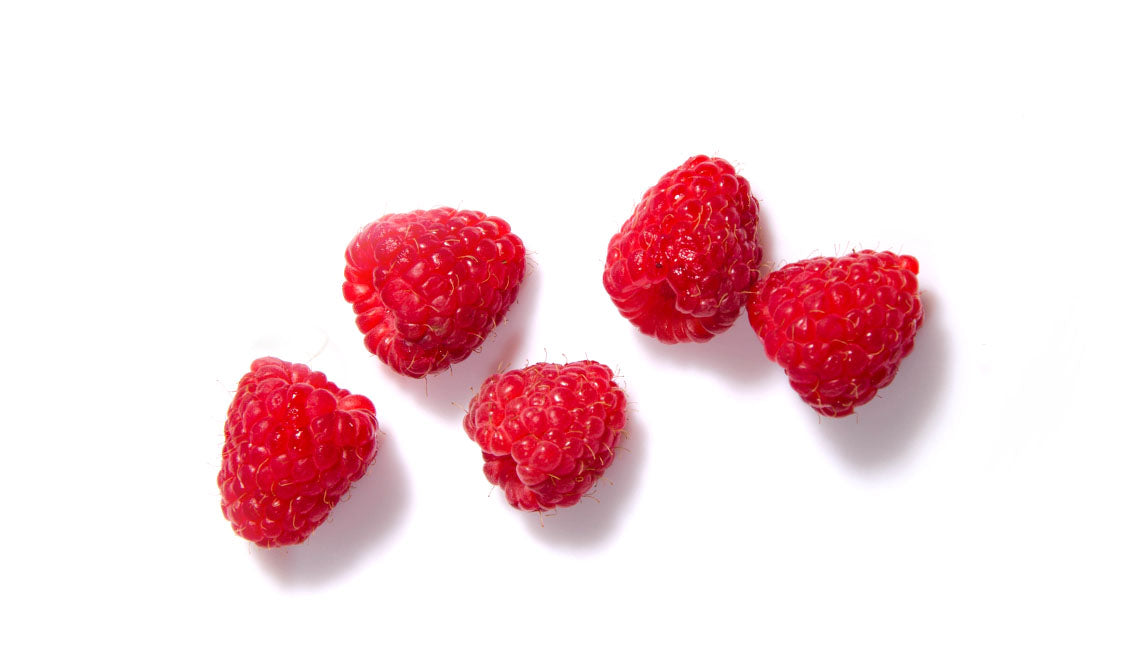 dried raspberries