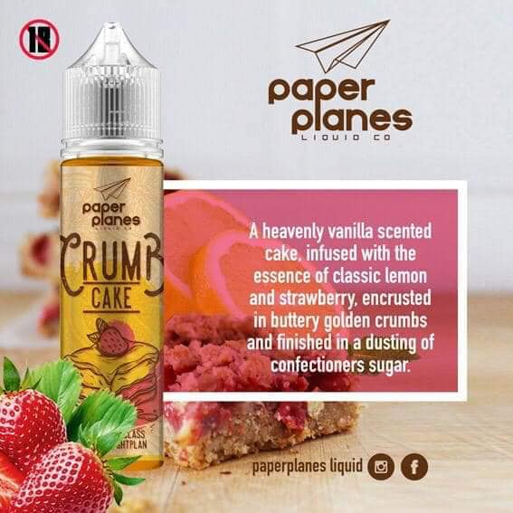 Paper Planes Co. - Crumb cake 100ml 2mg