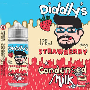 One Cloud - Diddlys Strawberry Condensed Milk 120ml 3mg