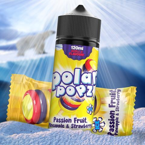 TVF Polar Popz - Passion Fruit, Pineapple & Strawberry 120ml 2mg