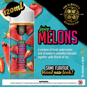 The Elements - Juicy Melons 25mg 30ml Salts