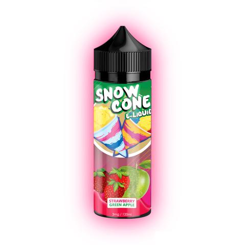 Snow Cone E-Liquid - Strawberry Green Apple 120ml 3mg