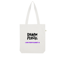 Load image into Gallery viewer, ORGANIC TOTE BAG - Damn Plastic