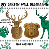 WALL DECORATION - 100% RECYCLED CARTON - Damn Plastic