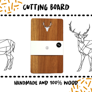 CUTTING BOARD - OAK DEER - Damn Plastic