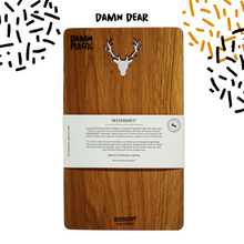 Load image into Gallery viewer, CUTTING BOARD - OAK DEER - Damn Plastic