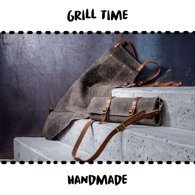 GRILL APRON - 100% LEATHER - Damn Plastic