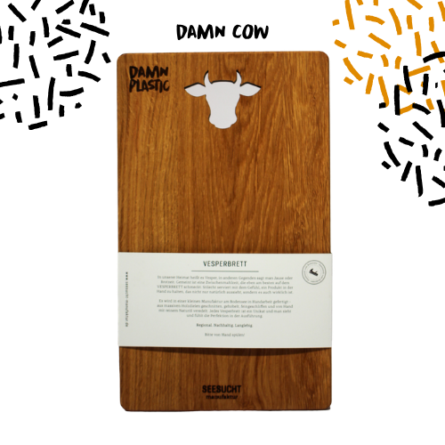 CUTTING BOARD - OAK COW - Damn Plastic