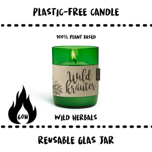 CANDLE - WILD HERBS - Damn Plastic