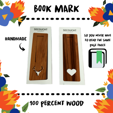BOOK MARK - WALNUT - Damn Plastic