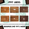POST CARD - 100% WOOD - Damn Plastic