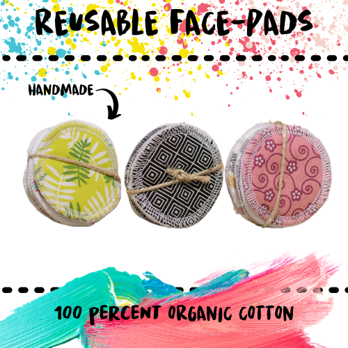 PADS - REUSABLE 100% COTTON - Damn Plastic