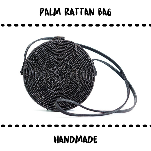 BAG - RATTAN BLACK - Damn Plastic