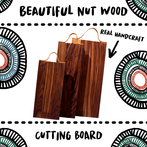 CUTTING BOARD - NUT WOOD - Damn Plastic