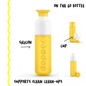 BOTTLE & CUP - YELLOW - Damn Plastic