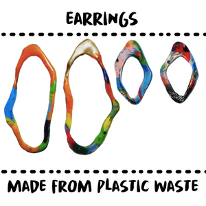 EAR RING - MADE OF PLASTIC TRASH